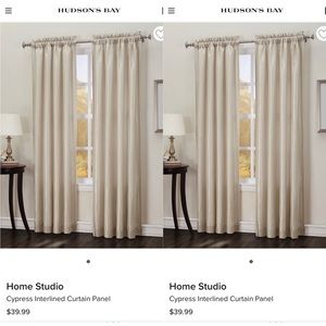 Home Studio Cypress Interlined Curtain Panel 54x84